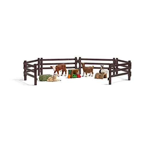 Schleich Children's Farm Life Zoo Play Set
