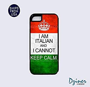 Case For Iphone 4/4S Cover Tough Case - I Am Italian I cannot Keep Calm iPhone Cover