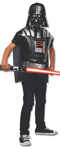 Rubies Star Wars Darth Vader Deluxe Muscle Chest Child Costume Top, (Darth Vader Costume Changes)