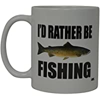 Rogue River Coffee Mug I'D Rather Be Fishing Fish Novelty...