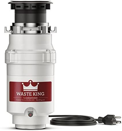 Waste King L-111 Garbage Disposal with Power Cord, 1 3 HP