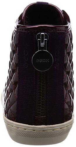 Geox D New Club - Zapatillas de deporte para mujer Bordeaux
