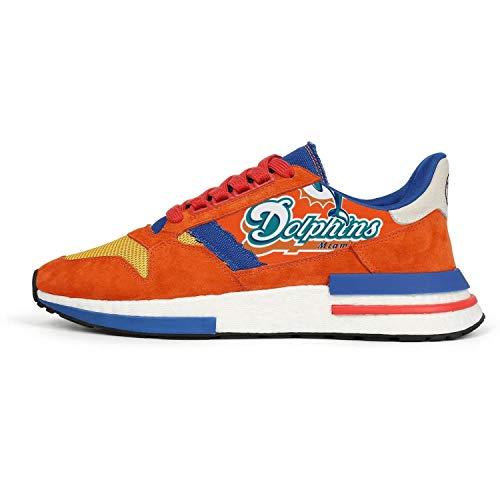 Men's Lightweight Orange Blue Classic Jogging Running Sneakers Shoes