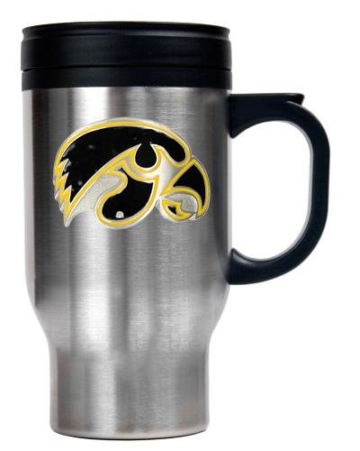 NCAA Iowa Hawkeyes 16-Ounce Stainless Steel Travel Mug