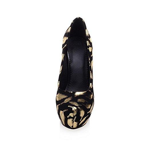 Elaborazione Weipoot talloni Punta Di Di Assortiti Pompe Colore Chiuso calzature Pull Alto Oro Donne Dell'unità on Delle Cw0xtvq