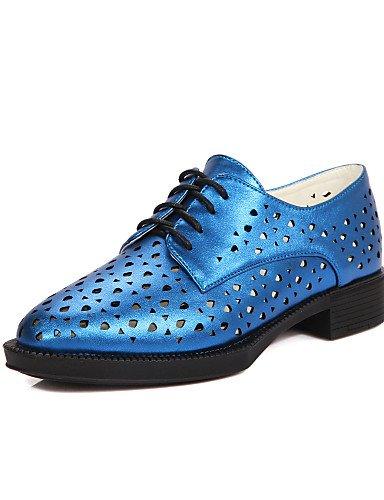 ZQ hug Zapatos de mujer-Tacón Cuña-Cuñas / Punta Redonda / Botas a la Moda-Tacones / Mocasines-Exterior / Casual-Semicuero-Azul / Rojo / Blanco , red-us8 / eu39 / uk6 / cn39 , red-us8 / eu39 / uk6 / c red-us5.5 / eu36 / uk3.5 / cn35