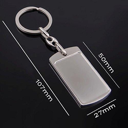 Kentop Simple Llavero Metal Rectangular Colgante Key Holder Size 10.7 2.7cm
