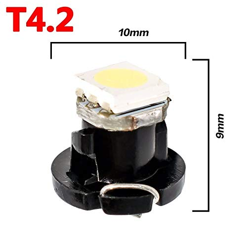 5 X T4.2 White Neo Wedge LED Car Bulb for Dash, Clock etc 12 volt bulbking