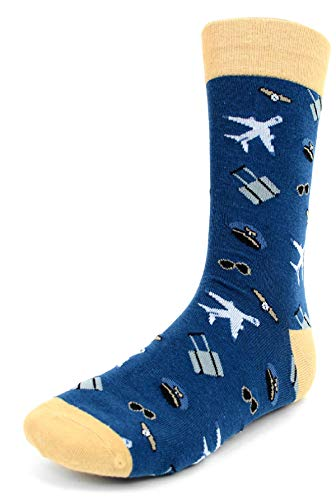 Men's Fun Crew Socks, Sock Size 10-13/Shoe Size 6-12.5, Awesome NEW Styles, Great Holiday/Birthday Gift - Gift Pilot
