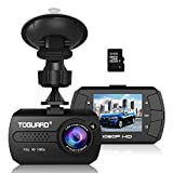 """[New Version] TOGUARD Mini Dash Camera Cars HD 1080P Wide Angle 1.5"""" LCD Dash Cam Build in G-Sensor Loop Recording Motion Detection(32GB Card Included)"""