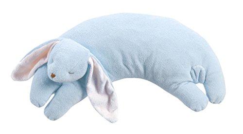 Angel Dear Blue Bunny Curved Pillow ()