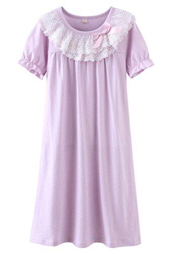 ASHERANGEL Bowknot Nightgown Sleeve Sleepwear product image