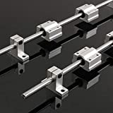 Yeahmart Linear Rail 2 Pcs 8mm x 400mm Cylinder