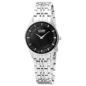 CITIZEN Womens Solar Powered Watch, Analog Display and Stainless Steel Strap EG3210-51E