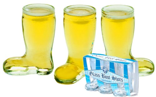 Mini Glass Boot 3 Pack Shot Glasses Standard ()