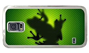 Hipster Samsung S5 Cases discount Frog Behind Leave PC Transparent for Samsung S5