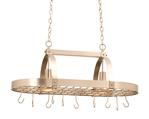 (Kalco 3616SN Contemporary 2 Light Pot Rack Pendant )
