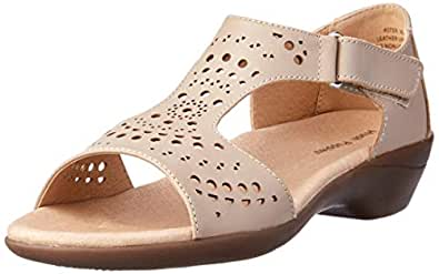 Hush Puppies Women?s Aster Fashion Sandals Summer Taupe 6 US