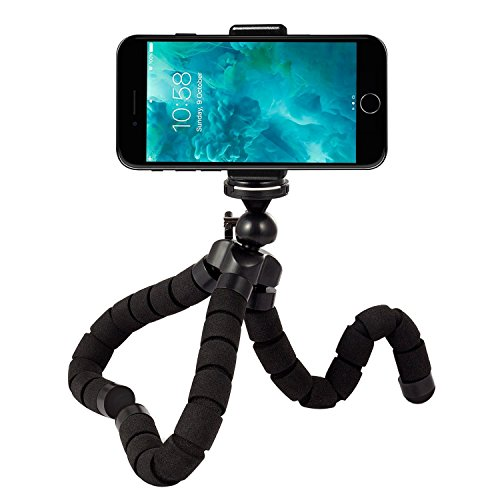 Rhodesy RT-01 Octopus Style Tripod Stand Holder for Camera, Any Smartphone with Clip