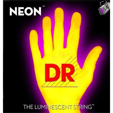 DR Strings NYE79 9-52 Lite Set Handmade Neon Hi-Def Yellow Coated 6-String Bass Strings