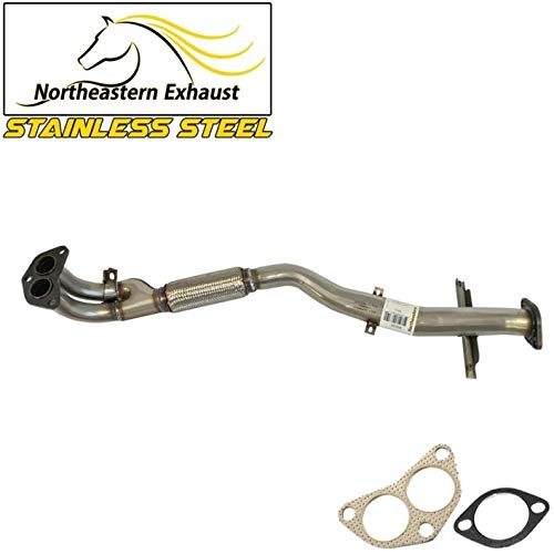 (Stainless steel front flex Exhaust pipe Fits 03-06 Mitsubishi Outlander 2.4L AWD)