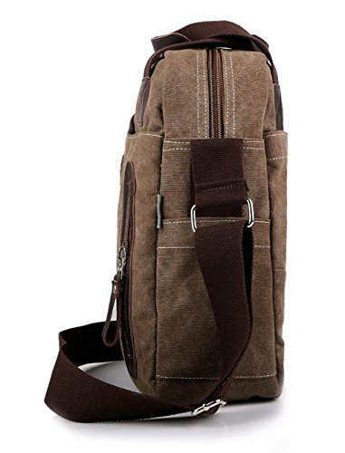 AMGBX181141 Brown WeenFashion Shoulder Zippers Fashion Bags Casual Women's Canvas 708Sn7