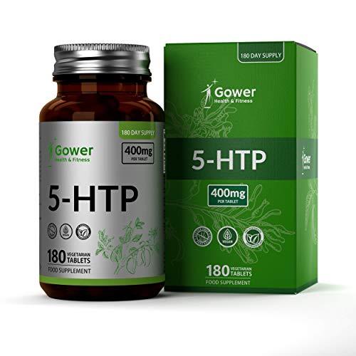 🥇 GH 5HTP 400mg 180 Capsulas Veganas de Alta Resistencia | 5 HTP Extracto de Semilla de Griffonia Simplicifolia | Pastillas para Dormir Bien y Adelgazar | Reduce Estres y Aumenta la Energia | Sin OGM