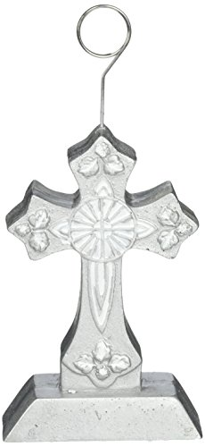 - Cross Photo/Balloon Holder (silver) Party Accessory  (1 count)