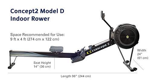 Concept2 2712-US Model D Indoor Rowing Machine with PM5, Black