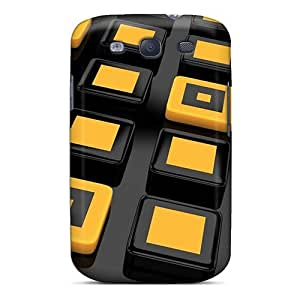 Faddish Phone Black And Yellow 3d Cases For Galaxy S3 / Perfect Cases Covers