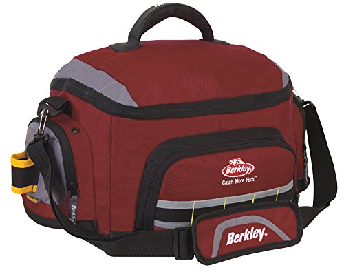 Berkley Red Fishing Tackle Bag w/ 4 Large Utility Boxes XPA033