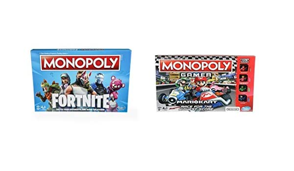 Fortnite Monopoly y Mario Kart Gamer Monopoly Bundle: Amazon.es: Juguetes y juegos