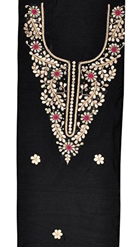 Lalhaveli Kleid Durchgehend Klassisch Einheitsgröße Schwarz Damen