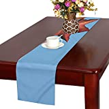 Jnseff Maple Leaves Sky Maple Nature Leaves Sun Color Table Runner, Kitchen Dining Table Runner 16 X 72 Inch For Dinner Parties, Events, Decor