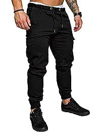 Mens Fashion Joggers Sports Pants - Cotton Cargo Pants Sweatpants Trousers Mens Long Pants