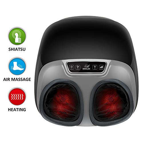 Snailax Shiatsu Foot Massager with Heat - Electric Foot Massage Machine with Adjustable Air Compression Rolling Kneading Massage and Foot Warmer Function for Foot Spa Therapy & Muscle Pain - Machine Foot Rolling Long