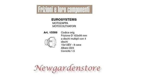 Embrague Motoazada motocultor compatible Eurosystems 15589 8 ...