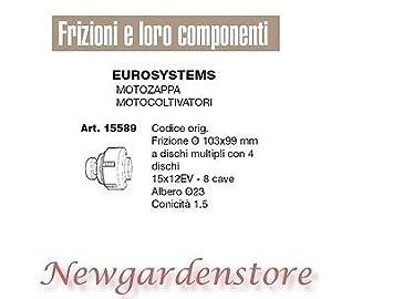 Embrague Motoazada motocultor compatible Eurosystems 15589 8 ...