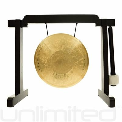 6'' to 7'' Gongs on the Tiny Atlas Stand - Black by Unlimited