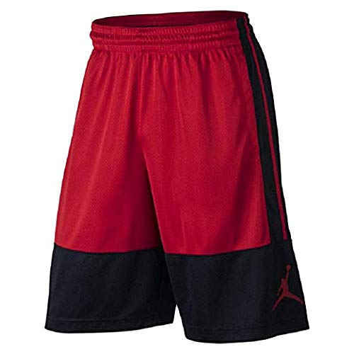 NIKE Air Jordan Rise Red/Black Mens Basketball Shorts Large Red/Black ()