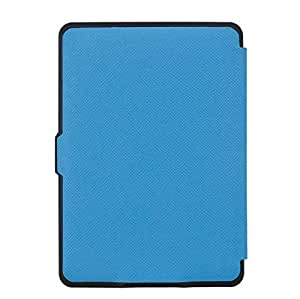 PU Leather Magnetic Smart Auto Sleep Case Cover For Amazon Kindle Paperwhite 1 2 3 Blue