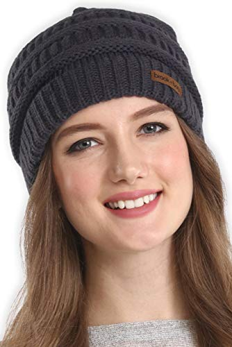 Brook + Bay Cable Knit Multicolored Beanie Stay Warm & Stylish This Winter - Thick, Soft & Chunky Beanie Hats for Women & Men - Serious Beanies for Serious Style