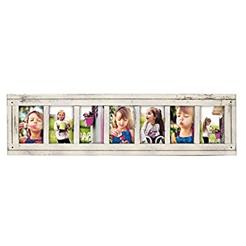 Amazon.com - DecentHome Rustic Wood Linear Collage Picture Frame, 7 ...