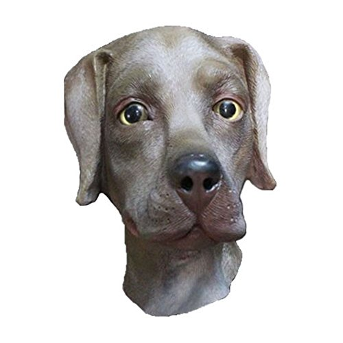 Halloween Dog Mask (O-Toys Deluxe Latex Animal Head Mask Novelty Halloween Costume Party, Dog)