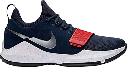 Nike Mens PG 1 Basketball Shoes (Navy/Red/White, 9.5-Medium) (Shoes Basketball One)