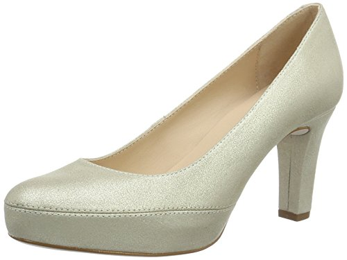 Unisa Numar_17_mts, Zapatos de Tacón para Mujer Dorado (Platino)