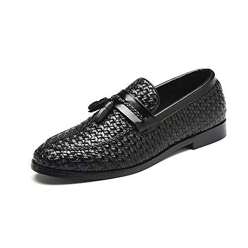 Guisantes Black Zapatos Personalizados Hombres Mocasines Verano Borla De Para Casuales Primavera Cuero Banquete SqAfwPUf
