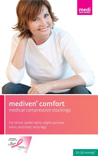 Medi Comfort Compression Support Maternity Pantyhose Petite 30-40mmHg Closed Toe, I, Natural by Medi by