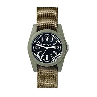 Bertucci 13362 Unisex Polycarbonat braun Nylon Band Schwarz Zifferblatt Smart Watch