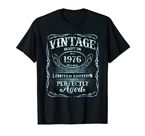 Vintage Premium Made In 1976 T-Shirt 43rd Birthday Gift
